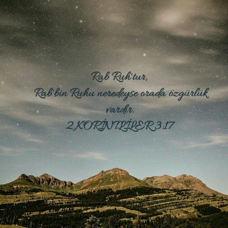 """2. Korintililer 3:17 Rab Ruh'tur. Rab'bin Ruh'u neredeyse orada özgürlük vardır. Sizi ne ilerlemekten alıkoyuyorsa O'na bırakın, O aramızda ve O özgürlüktür. Bunu gün içinde birçok defa yapmaya çekinmeyen. İsa Mesih çarmıha bizim bu yüklerimiz için gerildi ve hala size """"gel çocuğum, omuzlarında ne varsa önüme bırak"""" diyor. #ebedi #baba #kutsal #ruh #isa #mesih #carmihta #galip #geldi #kutsal #kitap"""