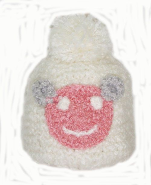 smile face on a beannie_fashion woman accessories.
