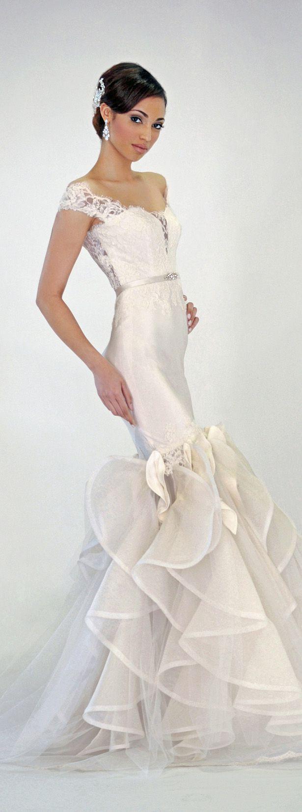 Sheath Wedding Dress : Eugenia Couture Spring 2016 Wedding Dress  Nia
