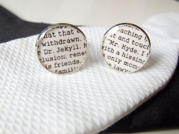 Dr Jekyll and Mr Hyde Inspired Silver Plated by LiteratoShop, £15.00