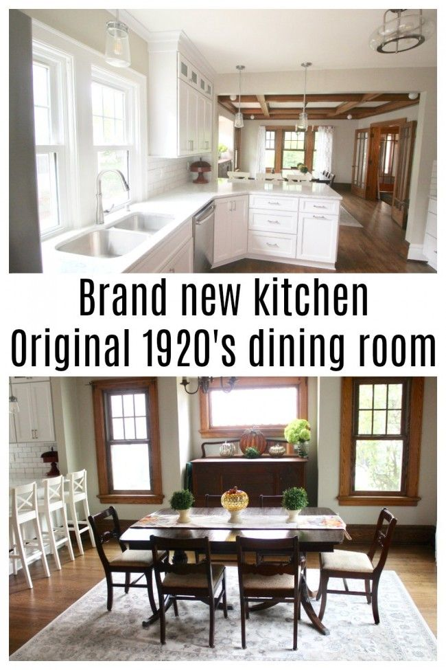 My Brand New Kitchen And Original Vintage 1920 S Dining Room When I