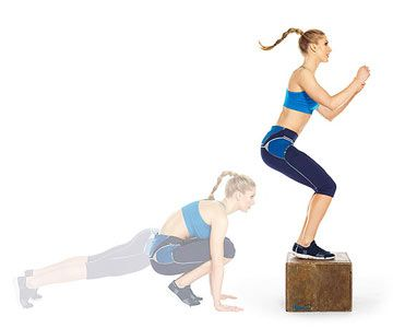 Bump up the burn: You know a Burpee Box Jump will make you sweat