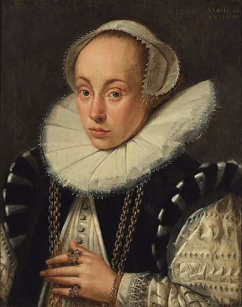 GELDORP, Gortzius  Portrait of a Lady  1597  Oil on panel, 52 x 42 cm  Private collection