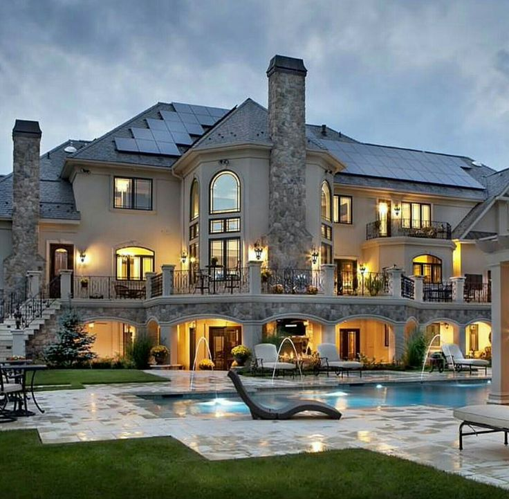 Luxury Mansion Estate Exterior with Swimming Pool @PharaohsLegacy