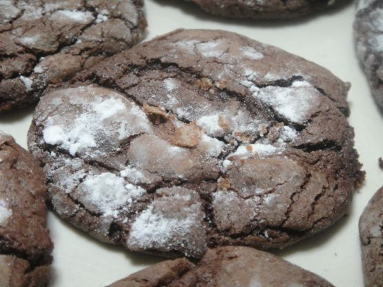 Fudge crinkle cookie recipe