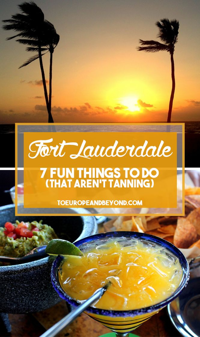 There's more to Fort Lauderdale than just the beaches! http://toeuropeandbeyond.com/7-things-to-do-in-fort-lauderdale-arent-tanning/ #Florida #travel
