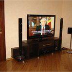 Мебель для гостиной Большая тумба ТВ из темного ламината