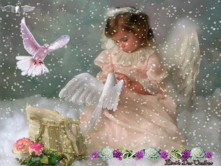 little angel in the snow