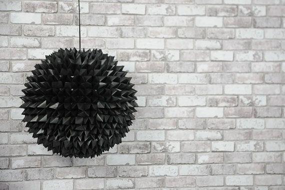 Black Origami Pendant Lamp by SilkandSpoon on Etsy, €199.00