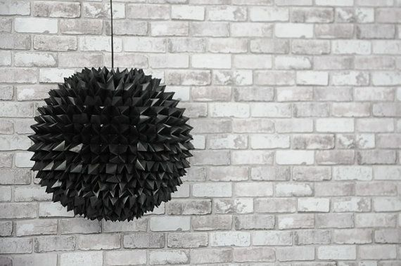 Black Origami Pendant Lamp by SilkandSpoon on Etsy, €199.00