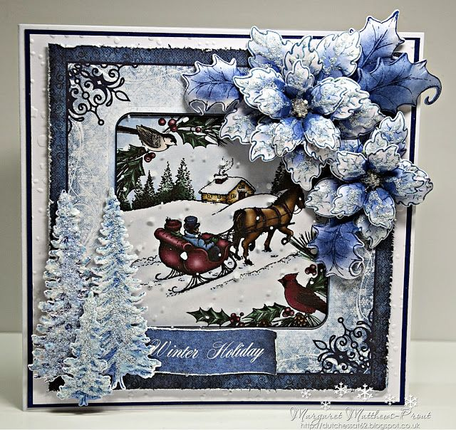 Christmas card club challenge 18....a winter scene