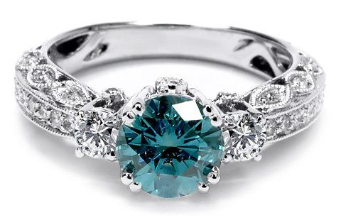 Blue Diamond Engagement Rings - The Perfect Gift Store #bluediamonds #engagementrings