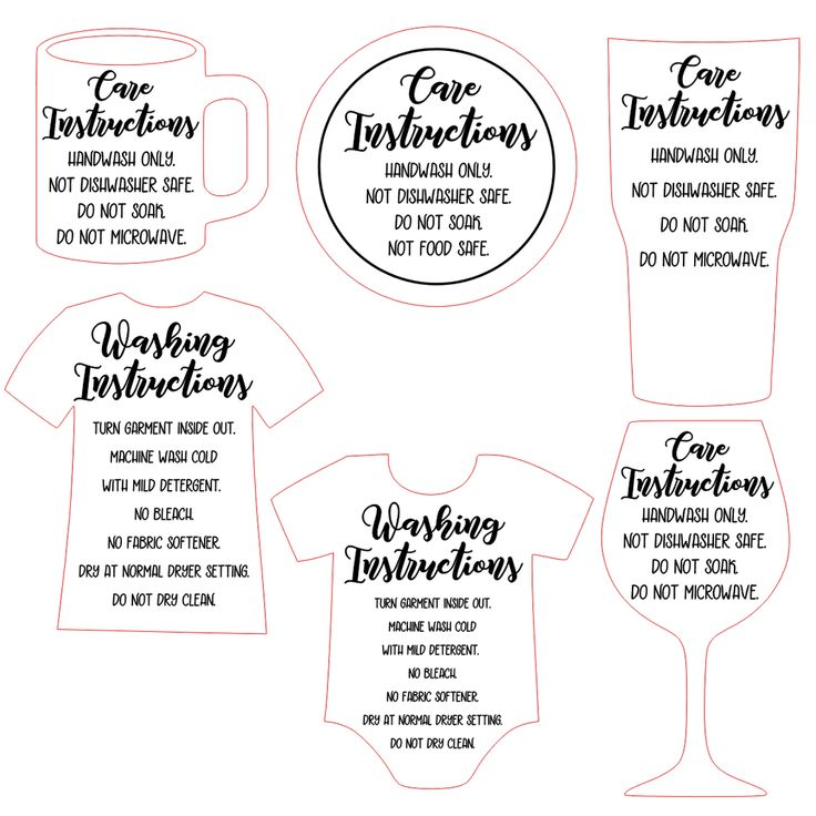 free shaped printable care cards for your silhouette or cricut business