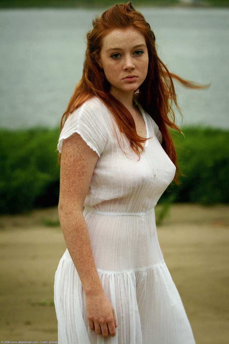 natural redhead hairy freckled