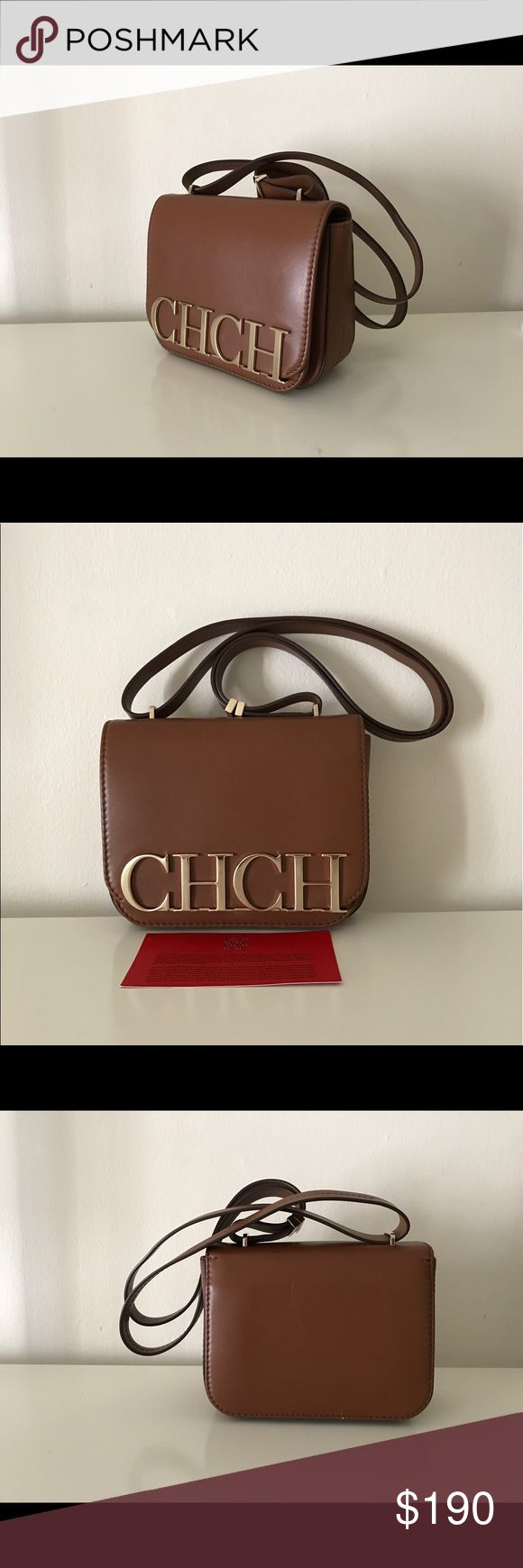 Carolina Herrera shoulder bag purse Authentic preloved in good condition but have some faint scratches in front and back look on pics. But inside new condition. Overall good Carolina Herrera Bags Shoulder Bags