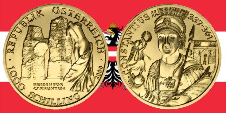 1000 Schilling in Gold Heidentor Carnuntum in der Serie Kunstschätze Österreichs › Investment News