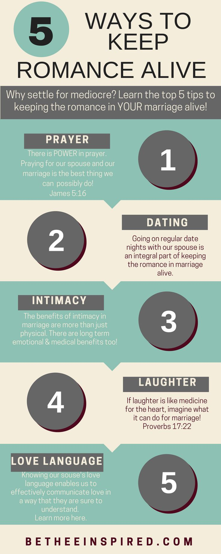 Is the #romance in your #marriage feeling a little lackluster lately? Do you long to #rekindle the romance flame with your #spouse? I don't know anyone who #desires that their #lovelife should wane, BUT it takes effort and dedication to cultivate and maintain romance in marriage. That is why I have compiled a list of my TOP 5 best #tips for fool-proofing your #love life! Click here to get started! + #FREE #Printable
