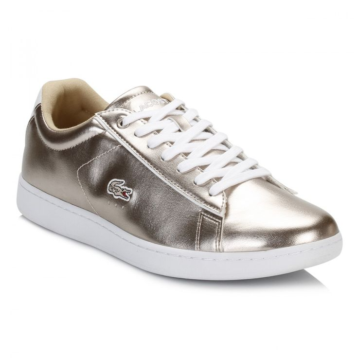 Lacoste Womens Grey Carnaby EVO 316 SPW Trainers 7-32SPW0113007 | TOWER London  #LACOSTE #shoes #trainers #sneakers #footwear #winter #metallic #gold