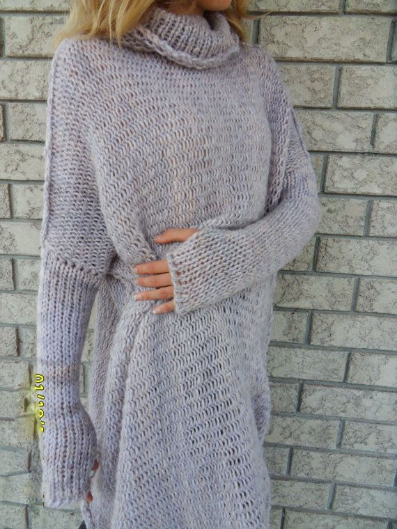 Chunky Oversize women knit sweater. by RoseUniqueStyle on Etsy