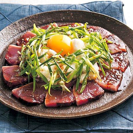 かつおの韓国風カルパッチョ   藤井恵さんのサラダの料理レシピ   プロの簡単料理レシピはレタスクラブニュース