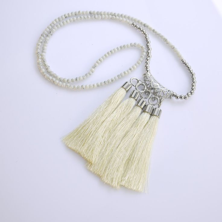 Vanessa Tassel - Necklace This is available for purchase on www.myjewelleryshoponline.com.au  #jewellery #jewelry #fashion2014 Make a splash with fashion