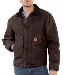 Carhartt - Men's Sandstone Traditional Jacket/Arctic Quilt Lined - J22
