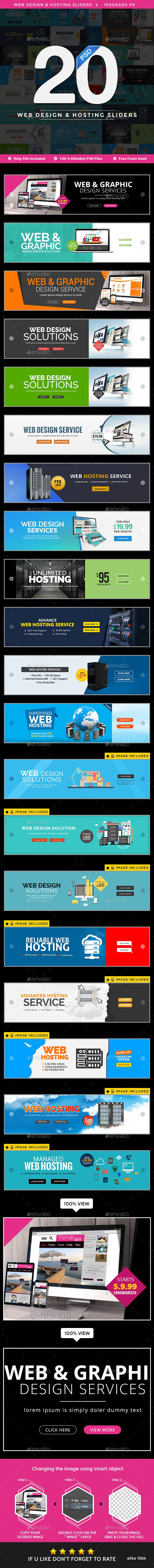Web Design & Hosting Sliders - 20 Designs Templates PSD. Download here: http://graphicriver.net/item/web-design-hosting-sliders-20-designs/16535557?ref=ksioks