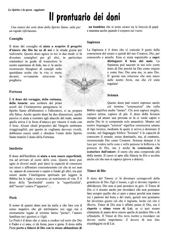 i doni dello spirito santo disegni - Cerca con Google