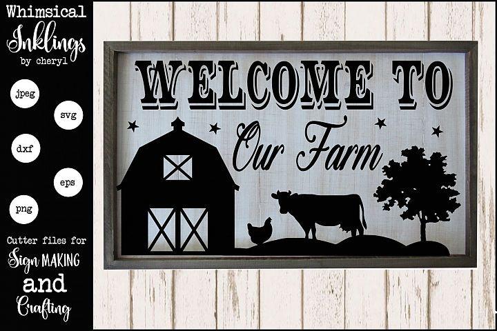 Welcome To Our Farm Scene Svg 138258 Svgs Design Bundles Farm Scene Farm Animals Decor Farm Signs