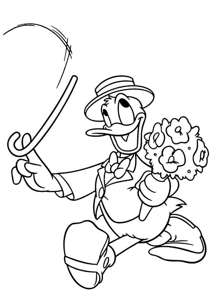 Donald Duck gentleman coloring