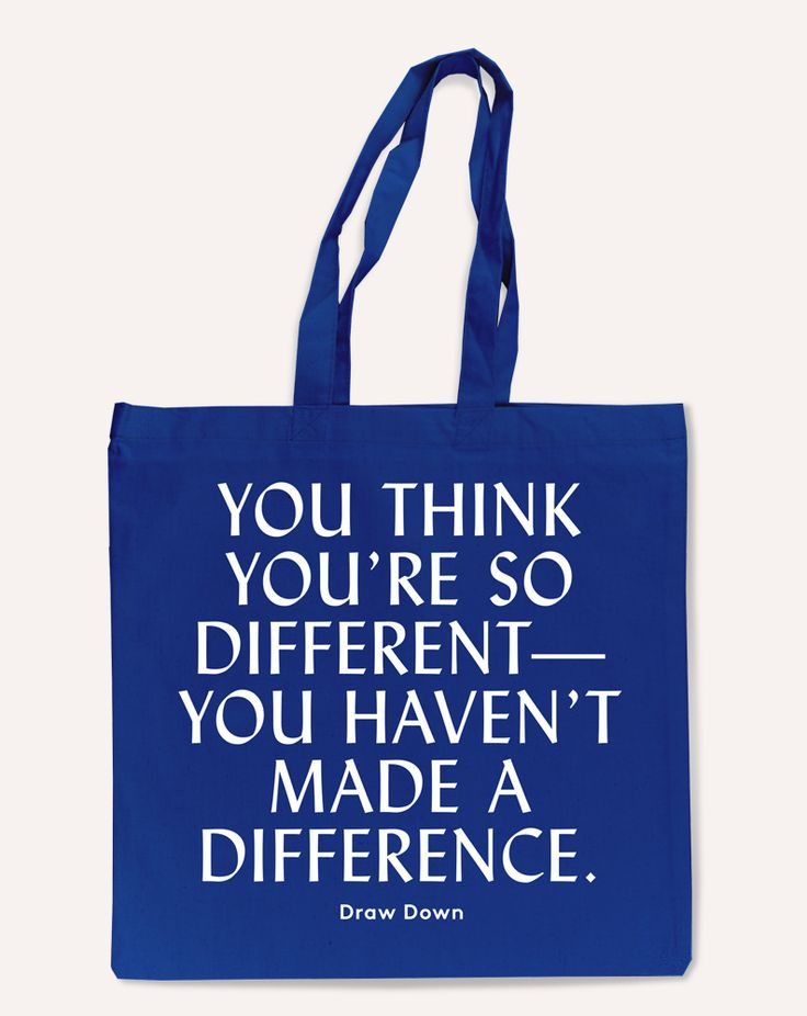 "Image of ""So Different"" Tote Bag"