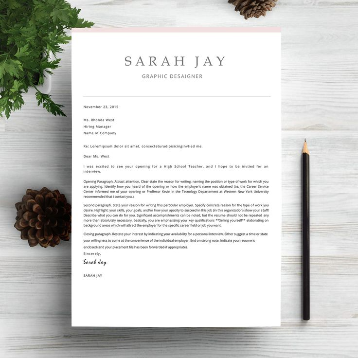 closing of cover letter%0A Professional Resume Template by My Resume on  creativemarket