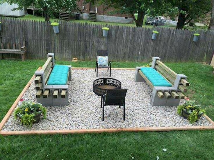 Easy and Cheap Fire Pit and Backyard Landscaping Ideas (7