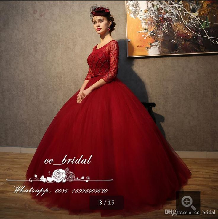 Sexy Scoop Neck Red Quinceanera Dresses 2017 Long Sleeves Ball Gown Vestidos De 15 Anos Puffy Tulle Beaded Plus Size Sweet 16 Dress Little Girl Quinceanera Dresses Mary Quinceanera Dresses From Cc_bridal, $124.95  Dhgate.Com