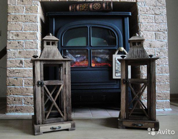 Деревянные фонари подсвечники из массива дуба— фотография №5