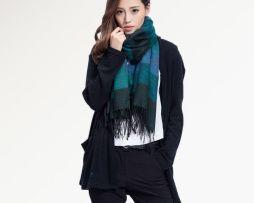 Ručne tkaný kašmírovo - bavlnený šál - vzor 05