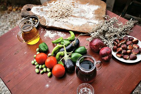 The Ikarian diet: Vegetables from the garden, legumes and greens, and plenty of olive oil. (three different recipes)