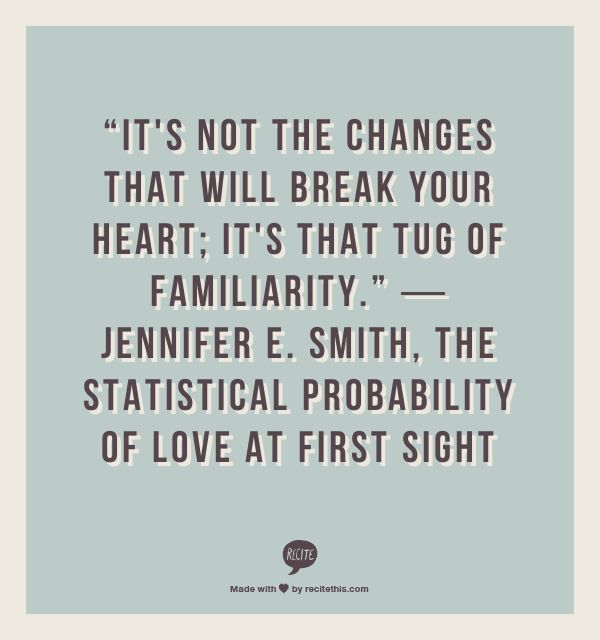 Quotes About Love At First Site: The Statistical Probability Of Love At First Sight Quotes