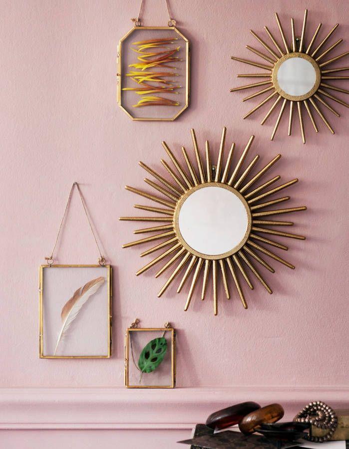 Les 25 meilleures id es de la cat gorie miroir metal sur for Miroir soleil cuivre