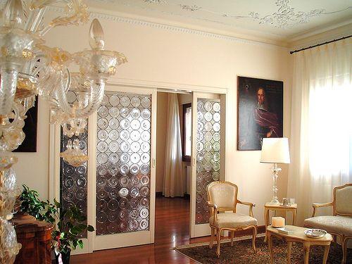 Vetrata artistica piombata con rui di vetro soffiato a Murano Venezia rilegata interamente a mano da Girardi Lucio e Bardelle Domenico  vetrate veneziane