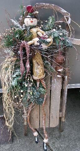Christmas decorations sled | old sled | Christmas Decor