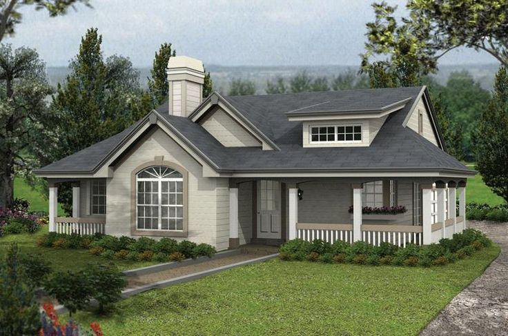 House plan 5633 00143 country plan 1 316 square feet 2 for Rustic country house plans