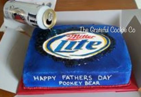 Miller Lite Fathers Day Cake