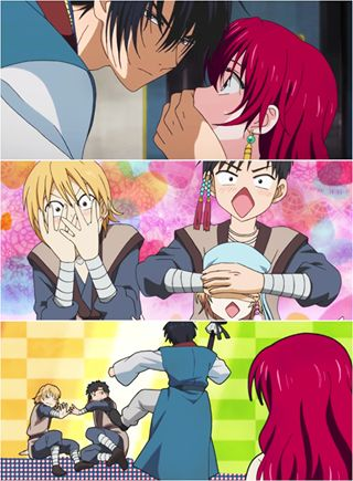 Hak and Yona // Akatsuki no Yona // Yona of the Dawn // Anime // Funny <-- I died at this moment. :D This anime is the best.