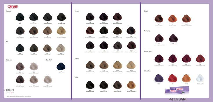Alfaparf Color Wear Evolution Tone On Tone Color Swatch Chart