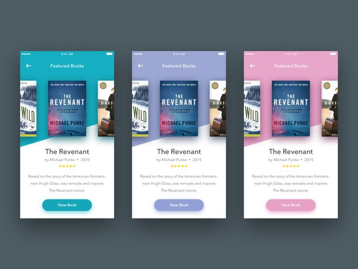 I guess I'm (currently) in love with carousel-contained layout, lol. Here is another exploration, which tells the story about a page from a book store app or anything similar to Goodreads.  Thanks ...