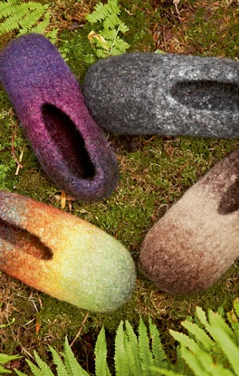 Strick & Filz No. 6 Modell 18: Pantoffel (Feltro Rainbow)