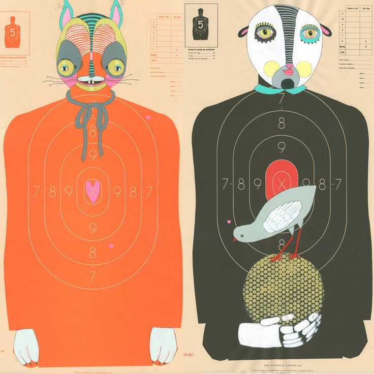 Custom Hand-Painted Paper Shooting Targets