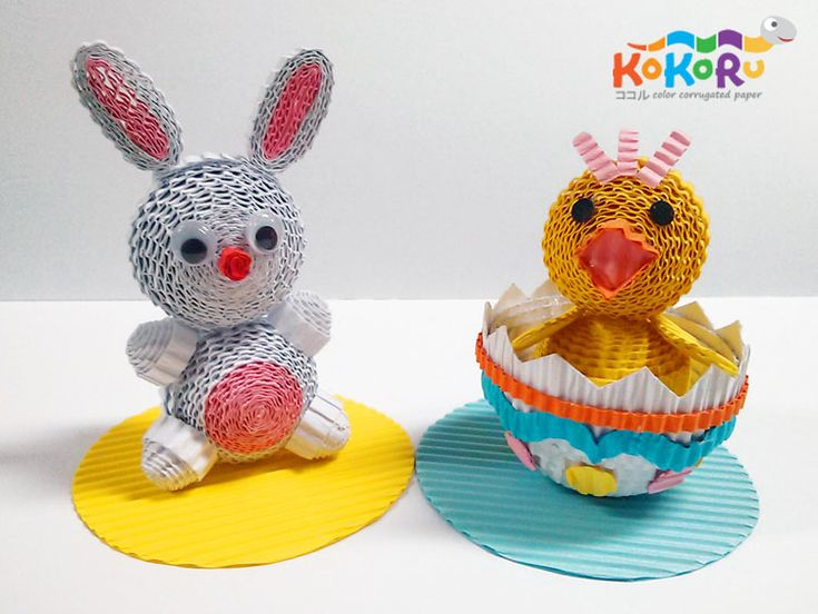 rabbit & chicken #kokoru #easter