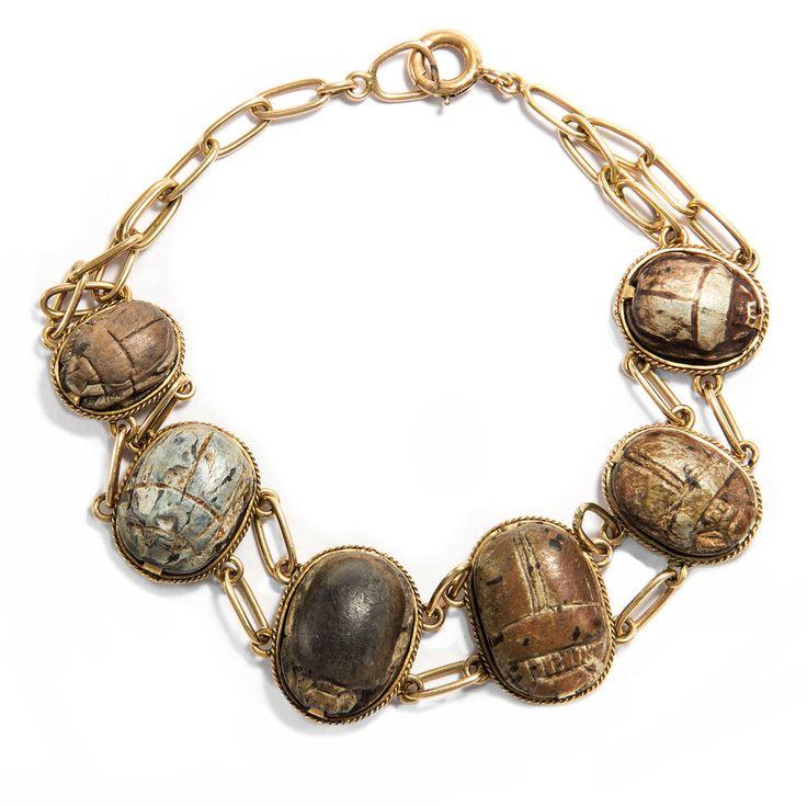 Egyptian Revival Bracelet 585er or avec ANTIQUE skarabäen scarabée égypte | Bijoux, montres, Bijoux fantaisie, Bracelets | eBay!